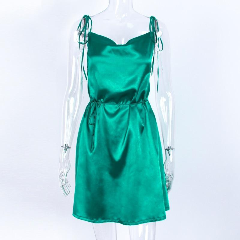 Satin Slip Dress-HugGitar