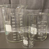 Glass Beakers - Various sizes - Optimal Scientific