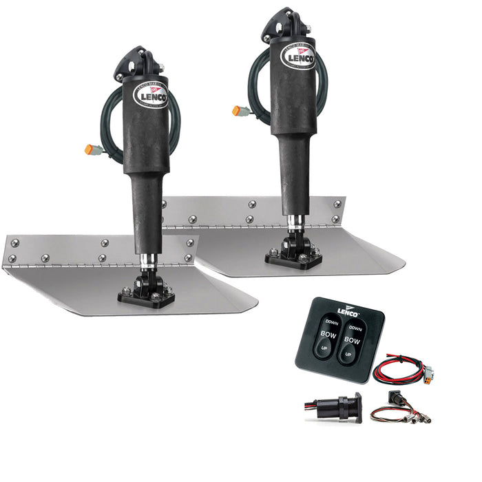 "Lenco 9"" x 9"" Standard Trim Tab Kit w/Standard Tactile Switch Kit 12V [TT9X9]"