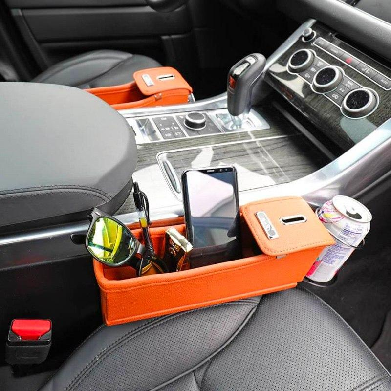 Car Seat Organizer With Cup Holder