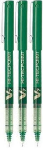 Pilot Hi-tecpoint V7 0.7mm Liquid Ink Pen (3pcs) - Green Ink [BX-V7]