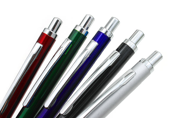 Zebra BA92 Black, Blue, Green, Silver and Red 0.5mm Mini Ballpoint Pens (5pcs) - Assorted