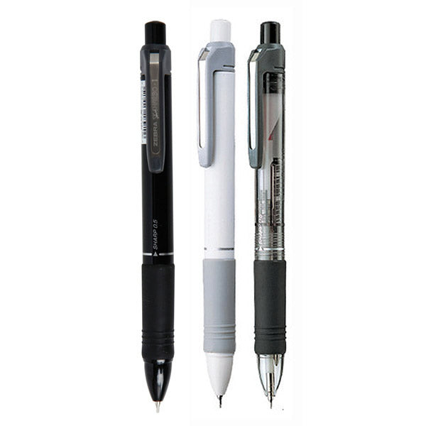 Zebra SK-SHARBO+1 Black, White and Transparent 0.7mm Multi Pens (3pcs) - Assorted [SB5]