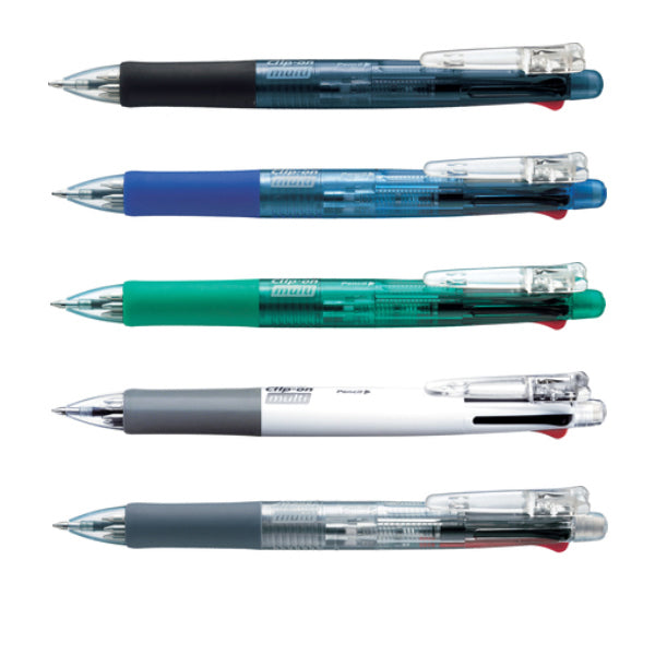 Zebra Clip-on multi Assorted Colors 0.7mm Multifunctional Pens (5pcs) - Assorted [B4SA1]