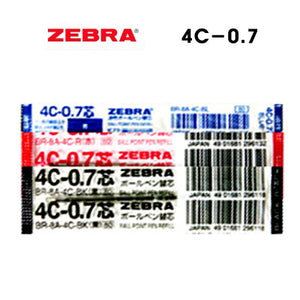 Zebra Blue, Red and Black 0.7mm Refills (3pcs) - Assorted [4C-0.7]