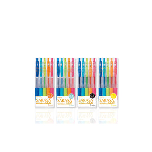 Zebra JJH15-5C, JJS15-5C, JJ15-5C and JJB15-5C Gel Pens (5pcs per pack)(4 packs) - Assorted