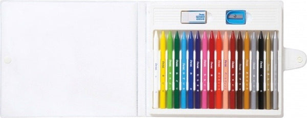 Pentel 18-Color Crayons (5pcs) - Assorted