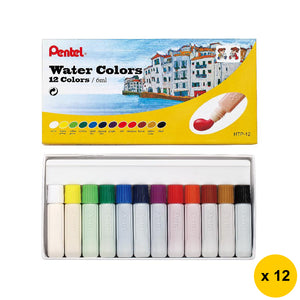 Pentel HTP-12 12-Color Water Colors (12pcs) - Assorted
