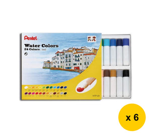 [BEST DEALS] Pentel 24-Color Water Colors (6pcs) - Assorted