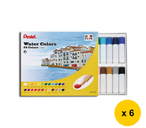 Pentel HTP-24 24-Color Water Colors (6pcs) - Assorted