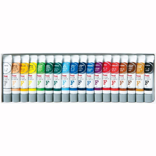 Pentel 18-Color Water Colors (5pcs) - Assorted