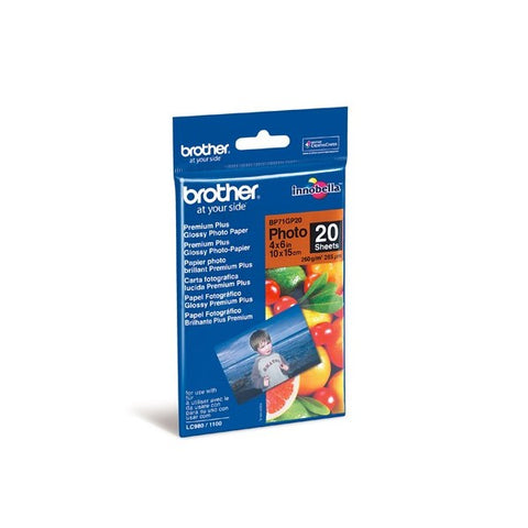 Brother Innobella 4R Premier Glossy Photo Paper (20 Sheets) [BP71GP20]