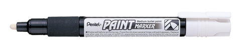 Pentel 4.0mm Medium Bullet Point Paint Marker - White Ink
