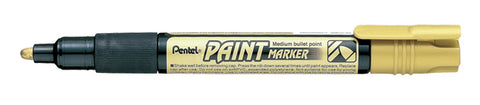 Pentel 4.0mm Medium Bullet Point Paint Marker - Gold Ink