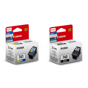 Canon PIXMA PG-740 Black and CL-741 Tri-Color Ink Cartridges (for MG4270) (2pcs) - Assorted [PG-740+CL-741]