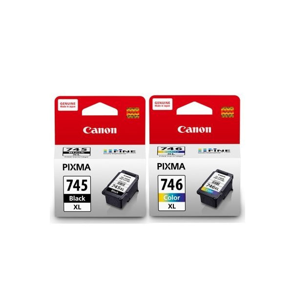 Canon PG-745XL and CL-746XL Ink Cartridges (for MX497) (2pcs) - Assorted [PG-745XL+CL-746XL]