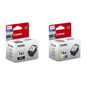 [Valentine's Gift] Canon PG-745 and CL-746 Ink Cartridges (for iP2870/MG3077/MG3070/MX497) (2pcs) - Assorted