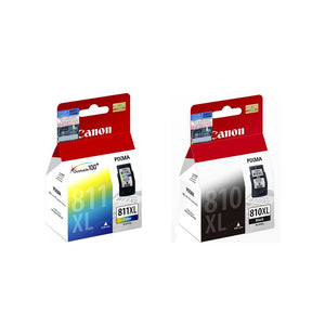 Canon PG-810XL and CL-811XL Ink Cartridges (for MX426/MX416/MP497) (2pcs) - Assorted [PG-810XL+CL-811XL]