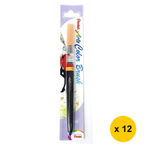 Pentel Arts Refillable Calligraphy Fude Color Brush Pen (12pcs) - Pale Orange [XGFL-116]