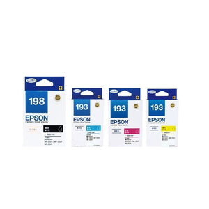 Epson 198 Black + 193 Cyan, Magenta, Yellow Ink Cartridges (for WF-2661/WF-2651) - Assorted