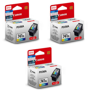 Canon Ink Cartridge (for MG4270/MG4170/MG3670/MX537/MX527/MX517)(3pcs) - Tri-Color [CL-741XL]