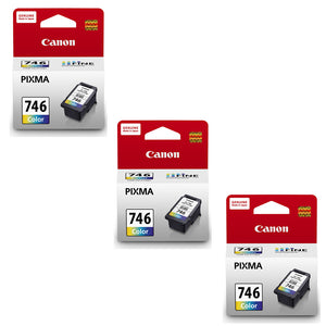 Canon Ink Cartridges (for iP2870/MG3077/MG3070/MG2970/MG2570/MX497)(3pcs) - Tri-Color [CL-746]