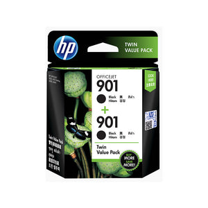 HP Standard Ink Cartridges (Twin Pack) (for Officejet J4500/4500/J4680) - Black [901]