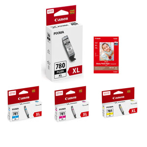 Canon PIXMA PGI-780XL Black + CLI-781XL Assorted Colors Ink Tanks (3pcs) - Assorted [PGI-780XL-CLI-781XL]
