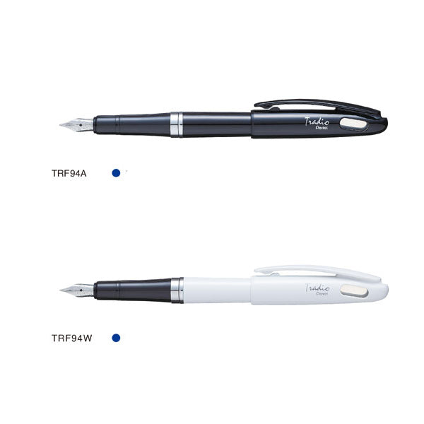 Pentel Tradio TRF94 Black and White Plume Fountain Pens [TRF94A-TRF94W]