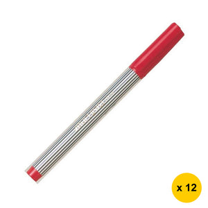 Pilot Ball Liner BL-5M Medium Point Sign Pens (Pack of 12) - Red