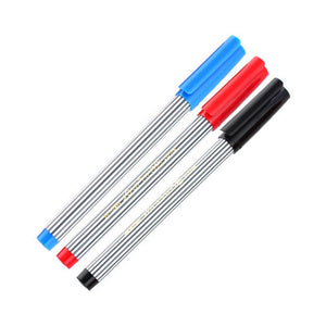 Pilot Ball Liner BL-5M Medium Point Black, Blue, Red Sign Pens (Pack of 3) - Assorted