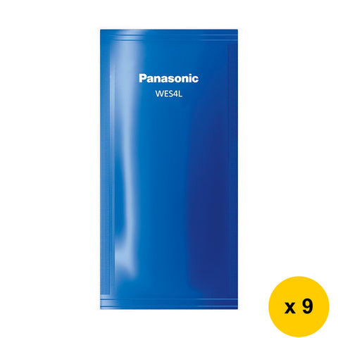 Panasonic WES-4L03 Men Shaver Cleaning Detergent (Pack of 9) (for ES-RT74/LV94)