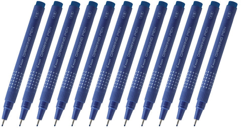 Pilot SWN-DR-03 0.3mm Drawing Pens (Pack of 12) - Blue Ink [SW-DR-03]