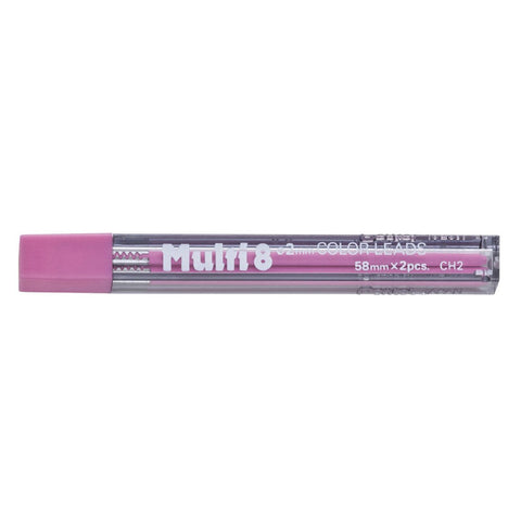 [VALUE] Pentel Multi 8 CH2 2.0mm Color Pencil Refills (2 leads per tube) - Pink Lead