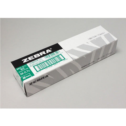 Zebra 0.7mm Refill (10pcs) - Green Ink [SK-0.7]