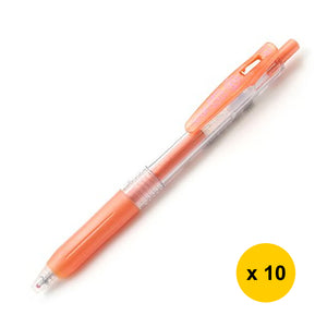 Zebra Sarasa JJE15 1.0mm Gel Ink Pen (10pcs) - Shiny Orange
