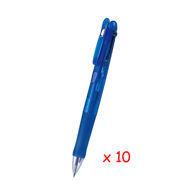 Zebra Clip-on G 4C 0.7mm 4-Color Ballpoint Pen (10pcs) - Blue [B4A3]