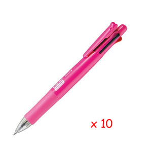 Zebra B4SA1 Clip-on multi F 0.7mm Multifunctional Pen (10pcs) - Pink [B4SA1F]
