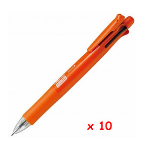 Zebra B4SA1 Clip-on multi F 0.7mm Multifunctional Pen (10pcs) - Orange