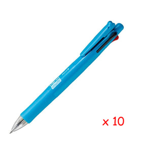 Zebra B4SA1 Clip-on multi F 0.7mm Multifunctional Pen (10pcs) - Light Blue [B4SA1F]