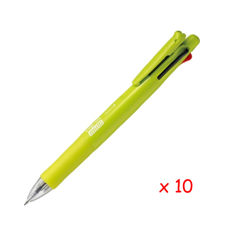 Zebra B4SA1 Clip-on multi F 0.7mm Multifunctional Pen (10pcs) - Light Green [B4SA1F]