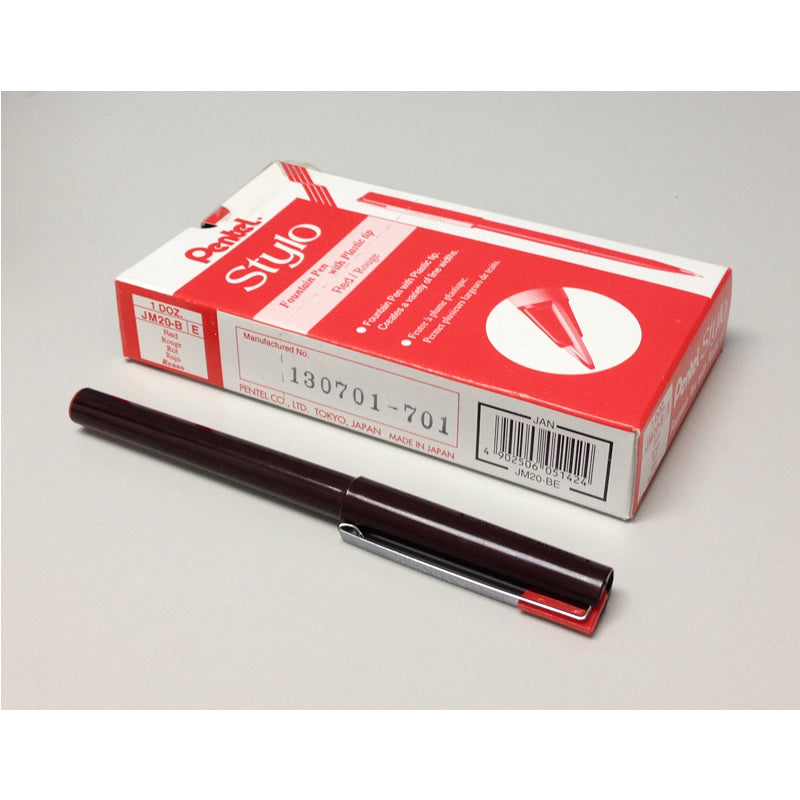 Pentel Tradio Stylo Fountain Pen (12pcs) - Red Ink