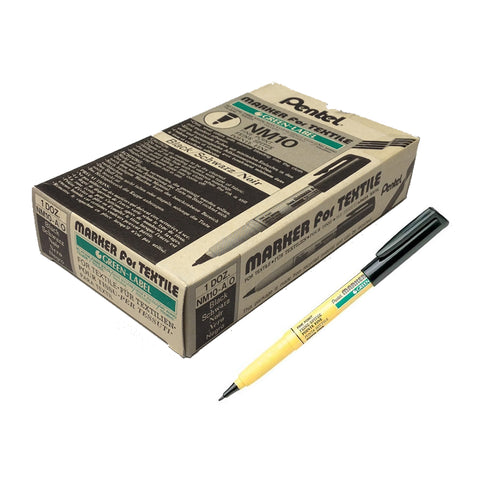 Pentel GREEN-LABEL 2.0mm Fabric / Textile Pen (12pcs) - Black