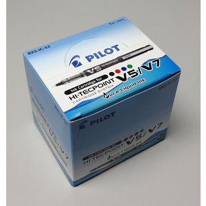 Pilot Hi-Tecpoint V5/V7 Ink Cartridge (12pcs) - Black Ink