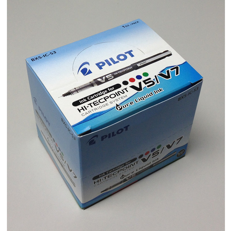 Pilot Hi-Tecpoint V5/V7 Ink Cartridge (12pcs) - Green Ink [BXS-IC-S3]