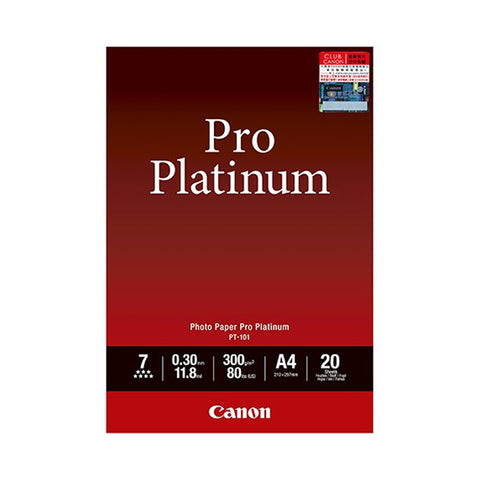 Canon PT-101 Platinum Series A4 Photo Paper Pro (20 Sheets)