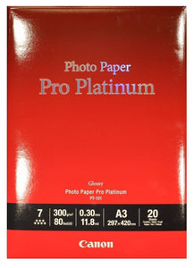Canon PT-101 Platinum Series A3 Photo Paper Pro (20 Sheets)