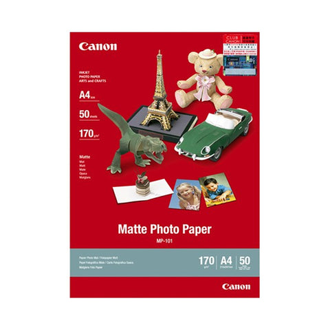 Canon MP-101 A4 Matte Photo Paper (50 Sheets)