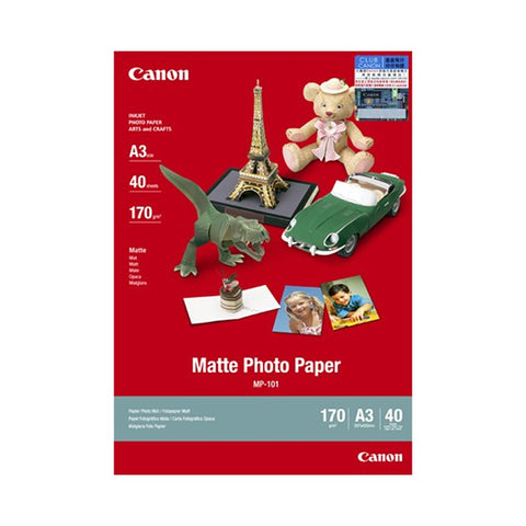 Canon MP-101 A3 Matte Photo Paper (40 Sheets)