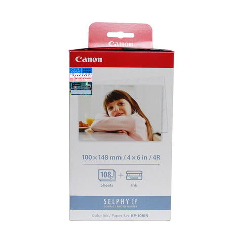 [SAVE] Canon KP-108IN Color Ink Cassette + 4R Paper Set (108 Sheets) (for CP1200)